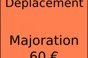 Déplacement facturé à 60€