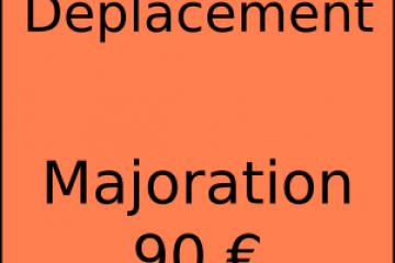 Déplacement facturé à 90€